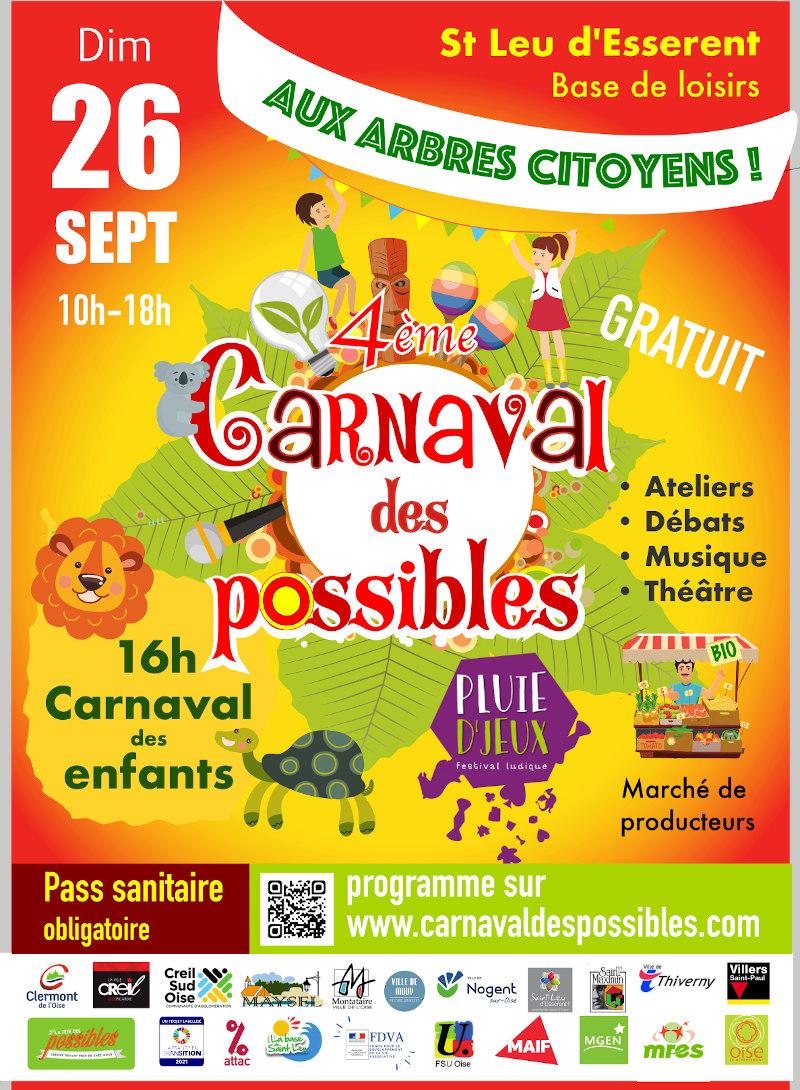 4ème édition du Carnaval des possibles ! @ Base de loisirs de St Leu d'Esserent